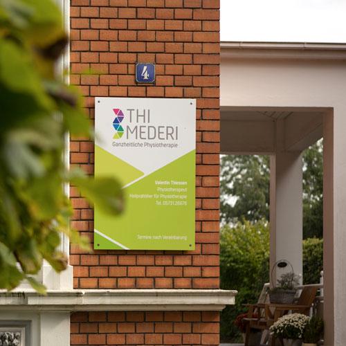Thi Mederi · Ganzheitliche Physiotherapie · Valentin Thiessen · Praxis-Gebäude